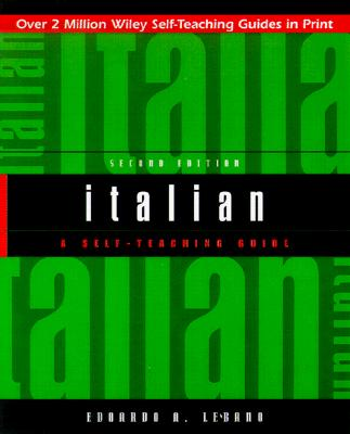Italian: A Self-Teaching Guide - Lebano, Edoardo A