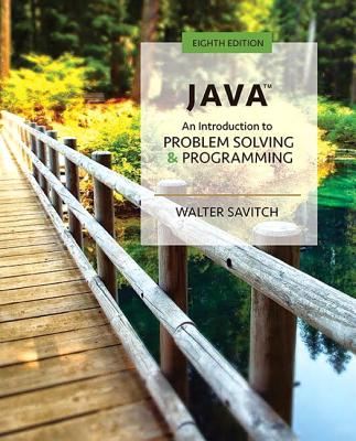 Java: An Introduction to Problem Solving and Programming - Savitch, Walter