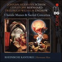 Johann Hermann Schein, Christoph Bernhard, Friedrich Wilhelm Zachow: Chorale Masses & Sacred Concertos - Christoph Lehmann (organ); Hartwig Groth (viola da gamba); Hartwig Groth (violone); Heidrun Götz (viola da gamba);...