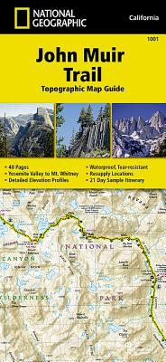 John Muir Trail Topographic Map Guide - National Geographic Maps - Trails Illustrated