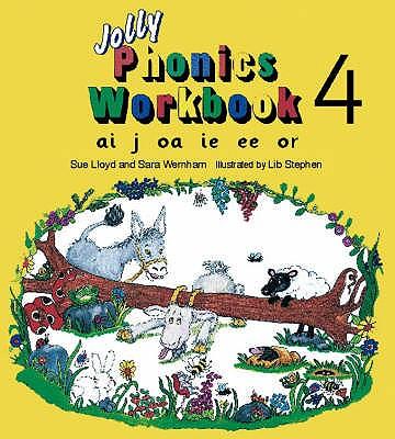 Jolly Phonics Workbook 4: in Precursive Letters (BE) - Lloyd, Sue, and Wernham, Sara