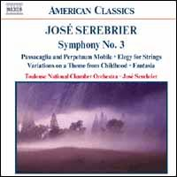 José Serebrier: Symphony No. 3 and other works - Carole Farley (soprano); Laurent Le Chenadec (bassoon); Renaud Gruss (double bass); Sandrine Tilly (flute);...