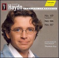 "Joseph Haydn: Complete Symphonies, No. 69 ""Laudon"", 86, 87 - Heidelberger Sinfoniker; Thomas Fey (conductor)"