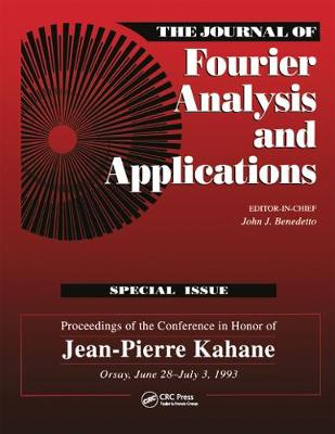 Journal of Fourier Analysis and Applications Special Issue - Benedetto, John J