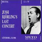 Jussi Björling's Last Concert