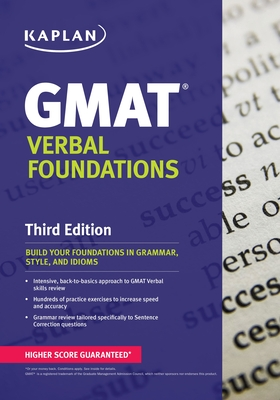 Kaplan GMAT Verbal Foundations - Staff of Kaplan Test Prep (Creator)