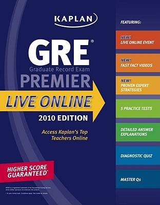 Kaplan GRE Exam 2010 Premier Live Online - Kaplan