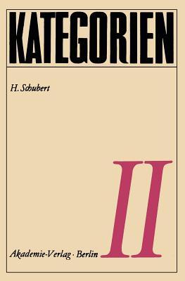Kategorien II - Schubert, H