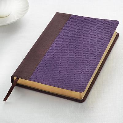 KJV Large Print Lux-Leather Brown/Purple -