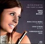 Konzerte for flute & harp: Henze, Bach, Mozart