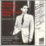 Leonard Bernstein's New York Phiharmonic Debut