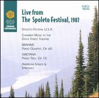 Live from the Spoleto Festival, 1987 - Carter Brey (cello); Erika Nickrenz (piano); Jeffrey Kahane (piano); Joseph Swensen (violin); Joshua Bell (violin); Marvis Martin (vocals); Scott Nickrenz (viola)
