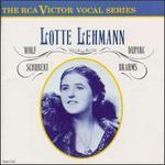 Lotte Lehmann Sings Hugo Wolf, Schubert, Henri Duparc, Brahms