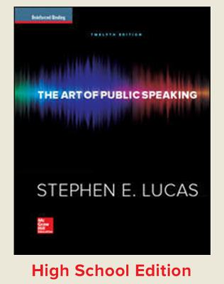 Lucas, the Art of Public Speaking, 2015, 12e, Student Edition - Lucas, Stephen E