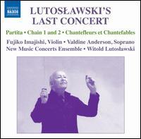 Lutoslawski's Last Concert - Fujiko Imajishi (violin); New Music Concerts Ensemble; Valdine Anderson (soprano); Witold Lutoslawski (conductor)