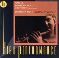 Mahler: Symphony 3 & 1 - Shirley Verrett (vocals); Boston Boychoir (choir, chorus); New England Conservatory Chorus (choir, chorus);...