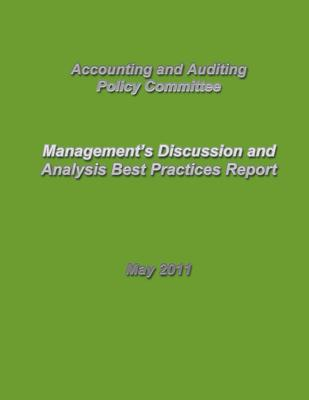 Management's Discussion and Analysis Best Practices Report - Accounting and Auditing Policy Committee