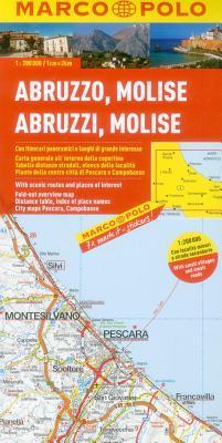 Marco Polo Karte Italien 10. Abruzzen-Molise 1: 200 000 -