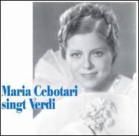 Maria Cebotari Singt Verdi - Elisabeth Waldenau (vocals); Heinrich Schlusnus (vocals); Helge Rosvaenge (vocals); Maria Cebotari (soprano);...