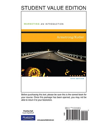 Marketing: An Introduction, Student Value Edition - Armstrong, Gary, and Kotler, Philip, Ph.D.