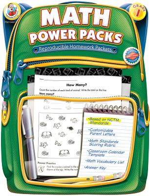 Math Power Packs, Grade 1: Reproducible Homework Packets - Frank Schaffer Publications (Compiled by)