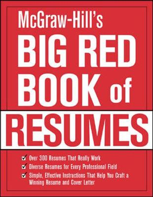 McGraw-Hill's Big Red Book of Resumes - VGM Career Books (Editor)