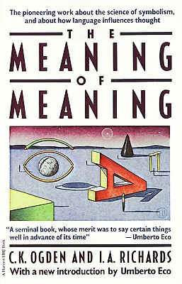 Meaning of Meaning - Ogden, C K, and Richards, I a