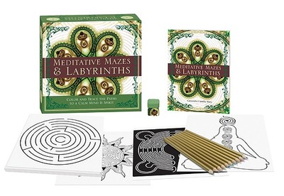 Meditative Mazes & Labyrinths: Color and Trace the Paths to a Calm Mind & Spirit - Wass, Cassandra Camille