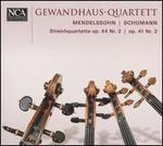Mendelssohn: Streichquartette Op. 44 Nr. 2; Schumann Op. 41 Nr. 2