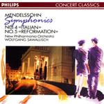 """Mendelssohn: Symphonies Nos. 4 """"Italian"""" & 5 """"Reformation"""""""