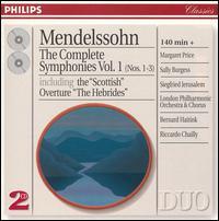 Mendelssohn: The Complete Symphonies, Vol.1 - Bernard Bartelink (organ); Margaret Price (soprano); Sally Burgess (soprano); Siegfried Jerusalem (tenor);...