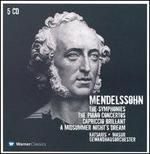 Mendelssohn: The Symphonies; The Piano Concertos; Capriccio Brilliant; A Midsummer Night's Dream [Box Set]