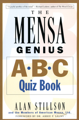 Mensa Genius A-B-C Quiz Book - Stillson, Alan