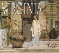 Mercadante: Virginia - Andrew Foster-Williams (vocals); Charles Castronovo (vocals); Christine Pendrill (cor anglais); Katherine Manley (vocals);...