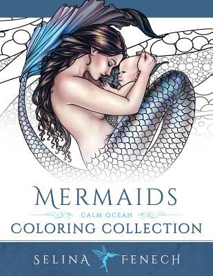 Mermaids - Calm Ocean Coloring Collection - Fenech, Selina