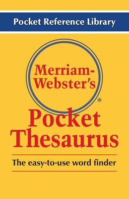 Merriam-Webster's Pocket Thesaurus - Merriam-Webster