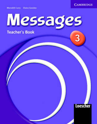 Messages 3 Teacher's Book 3 Italian Version - Levy, Meredith, and Goodey, Diana