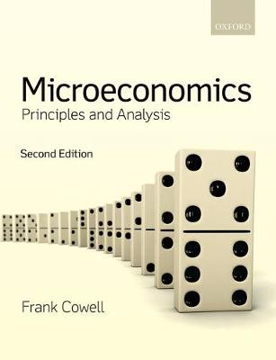 Microeconomics Principles And Analysis Book By Frank Cowell