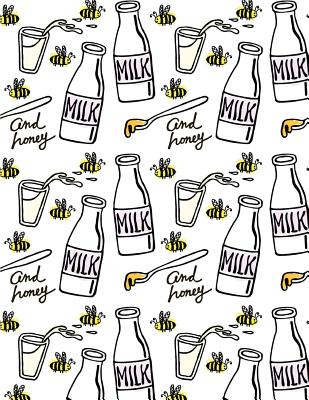 Milk Notebook: Honey Bee Journal Book Ruled Lined Page for Kids Teen Girl Boy Women Farmer Great for Writing Diary School College Record Note Pad Meal Planner Dairy Cow Doodle Cute Animal Farm Composition Book (Large, 8.5 X 11 Inches) - Yoshe