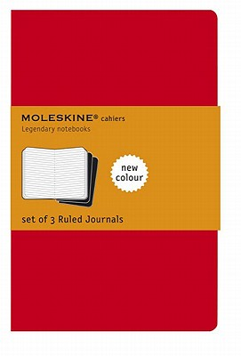 Moleskine Cahier Journal (Set of 3), Extra Large, Ruled, Cranberry Red, Soft Cover (7.5 X 10) - Moleskine
