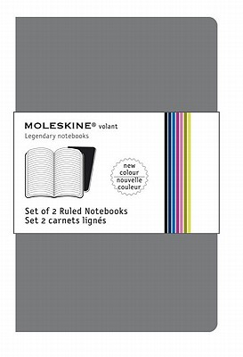 Moleskine Volant Notebook Ruled, Grey Xsmall: Set of 2 - Moleskine
