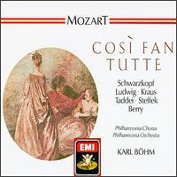 Mozart: Così fan tutte - Alfredo Kraus (tenor); Christa Ludwig (mezzo-soprano); Elisabeth Schwarzkopf (soprano); Giuseppe Taddei (baritone);...