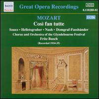 Mozart: Così fan tutte - Heddle Nash (vocals); Ina Souez (vocals); Irene Eisinger (vocals); John Brownlee (vocals); Luise Helletsgruber (vocals);...