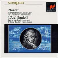 Mozart: Divertimenti K. 334 & K. 247 - Ab Koster (natural horn); Anner Bylsma (cello); Jürgen Kussmaul (viola); Knut Hasselmann (natural horn); L'Archibudelli;...