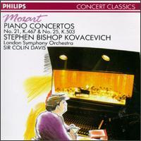 Mozart: Piano Concertos Nos. 21 & 25 - Stephen Kovacevich (piano); London Symphony Orchestra; Colin Davis (conductor)
