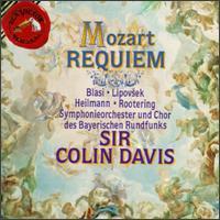 Mozart: Requiem - Angela Maria Blasi (soprano); Jan-Hendrik Rootering (bass); Marjana Lipovsek (vocals); Uwe Heilmann (tenor); Bavarian Radio Symphony Orchestra; Colin Davis (conductor)
