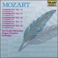 Mozart: Symphonies Nos. 14-18 - Prague Chamber Orchestra; Charles Mackerras (conductor)