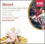 Mozart: Violin Concertos Nos. 4 & 5; Rondo concertante; Rondo; Adagio