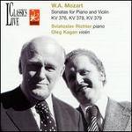 Mozart: Violin Sonatas K376, 378, 379