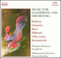 Music for Saxophone and Orchestra - Theodore Kerkezos (saxophone); Vicci Wardman (viola); Philharmonia Orchestra; Martyn Brabbins (conductor)